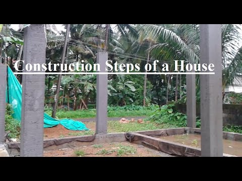 Construction Steps of a House in India