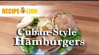 Cuban-Style Hamburgers