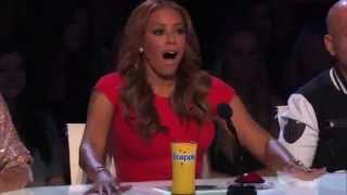 Americas Got Talent auditions 2013 6 Year Old Aaralyn Singing Screamo!