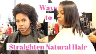 Chocolate Steam Treatment for Straightening Natural Hair