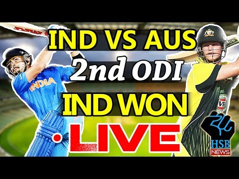 Live Match : India vs Australia 2nd ODI ,IND Set 253-Run: LIVE  Cricket Score AUS 182/9