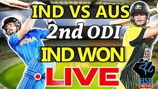 Live Match : India vs Australia 2nd ODI ,IND Won By 50 Runs.