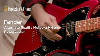 Fender Alternate Reality Electric Guitars - Meteora HH and Powercaster