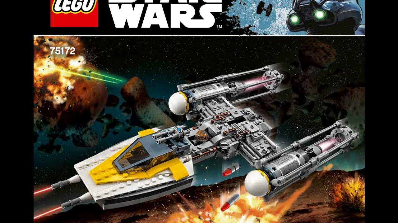 Lego 75172 Y Wing Starfighter Set Instructions Youtube
