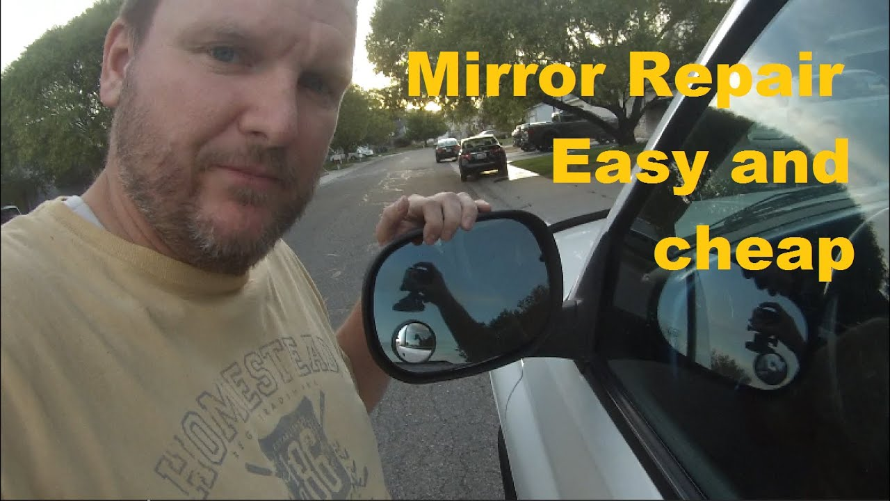 Side View Mirror Repair >> Truck mirror fell off - put it back on permanently DIY - cheap fix 1999 Dodge Ram - YouTube