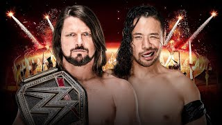 AJ Styles vs Shinsuke Nakamura for the WWE Championship at Greatest Royal Rumble