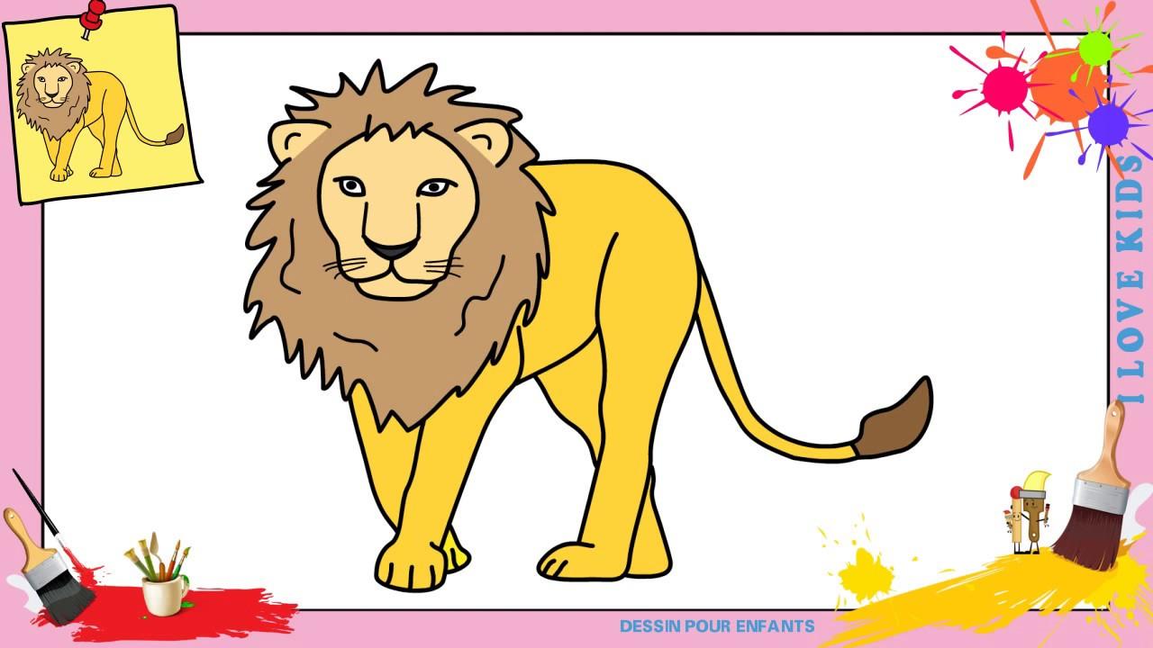 Comment dessiner un lion 2 facilement etape par etape - Comment dessiner un lion ...