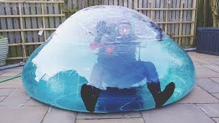 I Went Scuba Diving in a Zorb Ball & You Have to See What Happened… (Swimming on Land Challenge) thumbnail