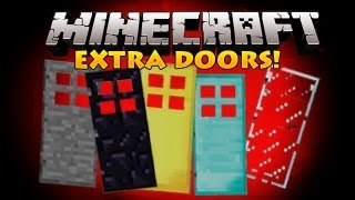 Minecraft Mods - Extra Doors! (Obsidian,Glass,Diamond,and more!)