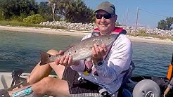 """SHORELINE PARK"" Gulf Breeze Florida - Catching Redfish on Berkley Gulp"