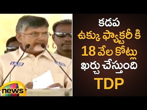Chandrababu Naidu Reveals The Budget Of Kadapa Steel Plant   Mylavaram   Kadapa   Mango News