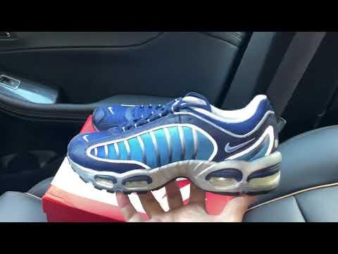 Nike Air Max Tailwind 4 Blue Void Metallic Silver shoes