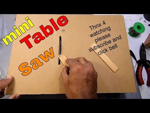 homemade mini table saw