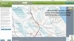 Paraskartta.fi-palvelun käyttö: vapaasti rajattavan karttatulosteen tilausvaiheet