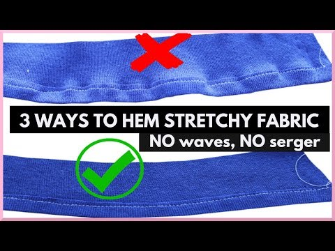 3 Ways on How to Hem Stretchy Fabric WITHOUT IT Getting Wavy  (no serger) || SHANiA