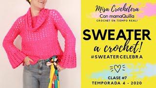 SWEATER A CROCHET - Crochet En Tiempo Real Con MamaQuilla