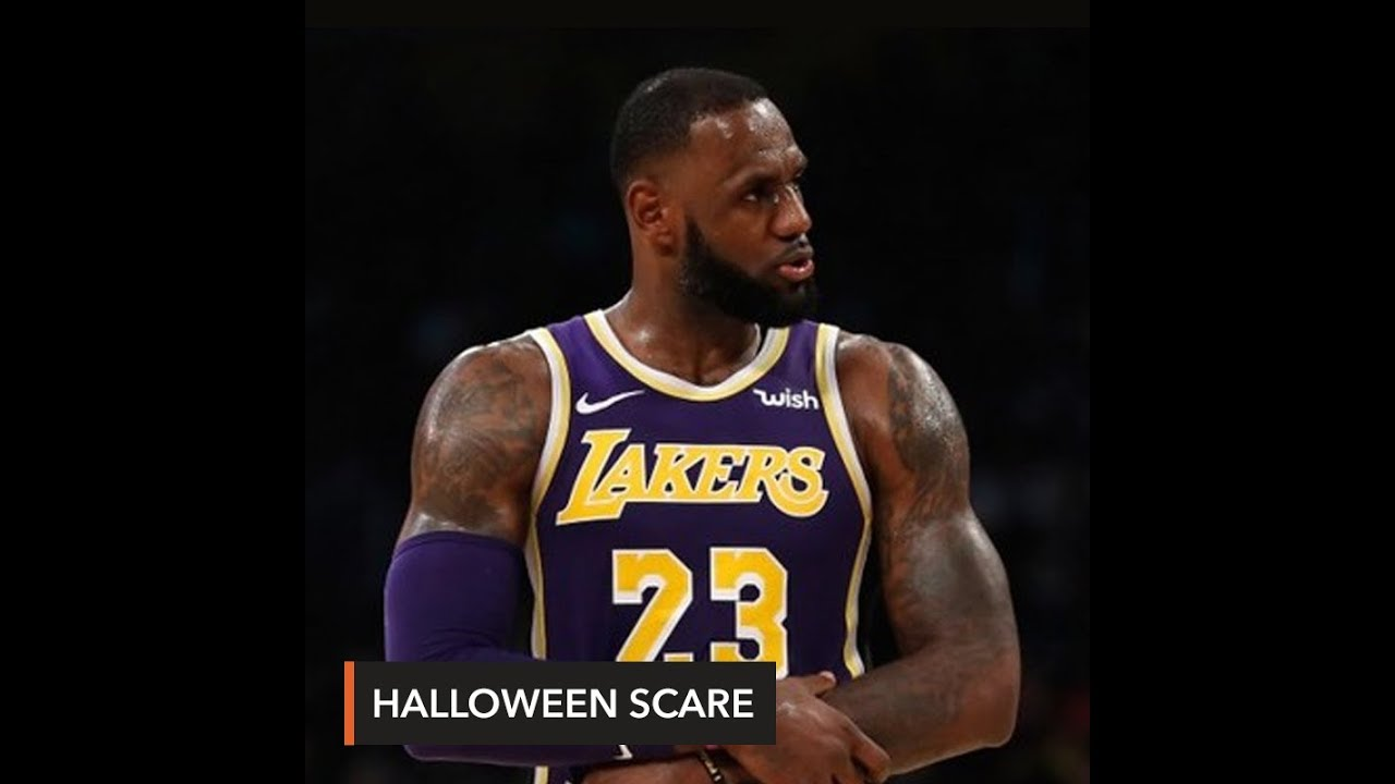 fb4c0deb991 LeBron gives Lakers fans a fright - YouTube