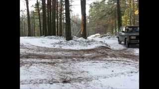 Заносы в лесу - песок, снег, мороз