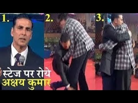 Akshay Kumar Cried on Stage of IFFI 2017 Goa | Amitabh Bachchan Hugged Him | Bollywood Live