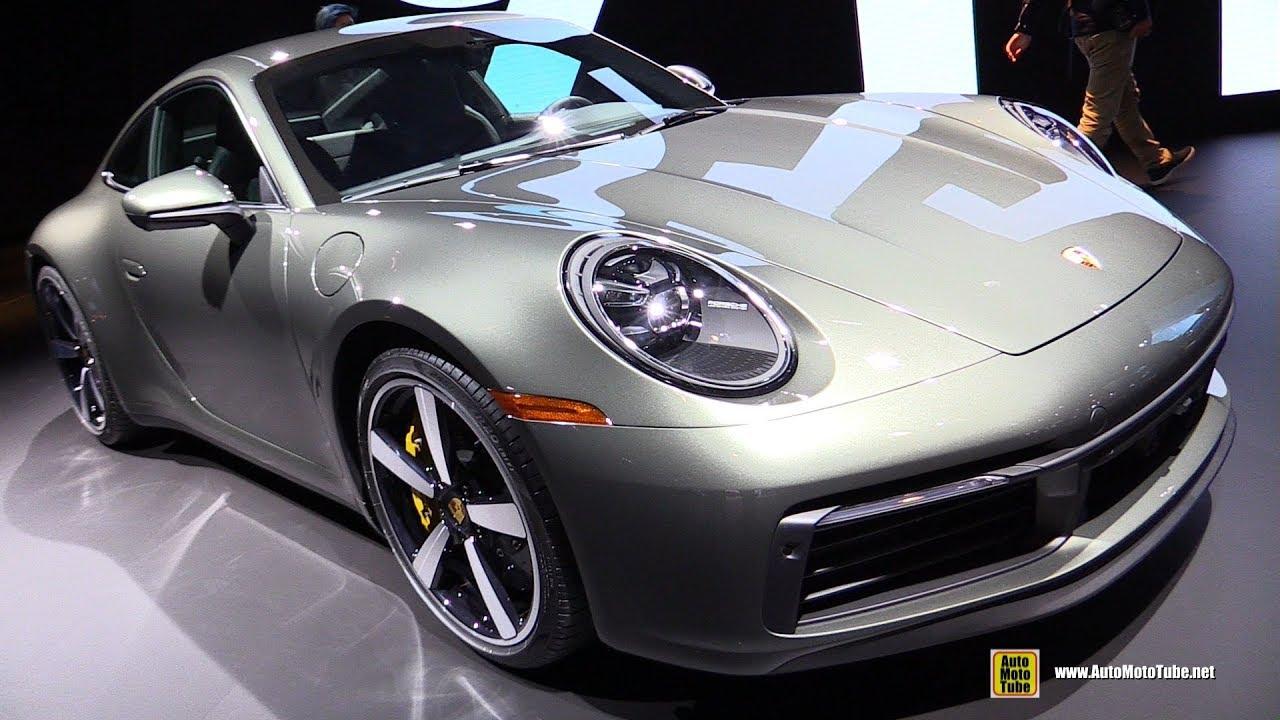 2020 Porsche 911 Carrera S 992 in Agate Gray , Exterior and Interior  Walkaround 2018 LA Auto Show
