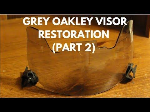 Oakley Gray Football Visor Restoration (Part 2) - Upgrades!