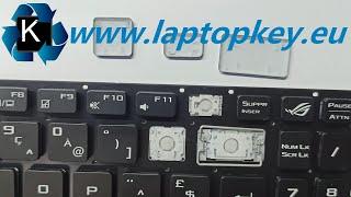 Asus ROG LAPTOP KEYBOARD KEY REPAIR GUIDE GL753 GL553 G752 GL552 FX753 How to Install Fix keys DIY