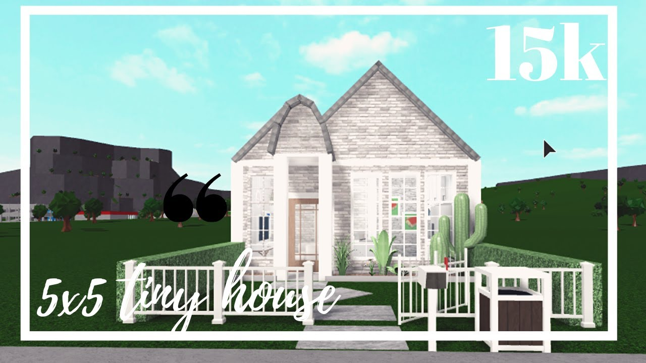 Bloxburg 5x5 Tiny House Youtube