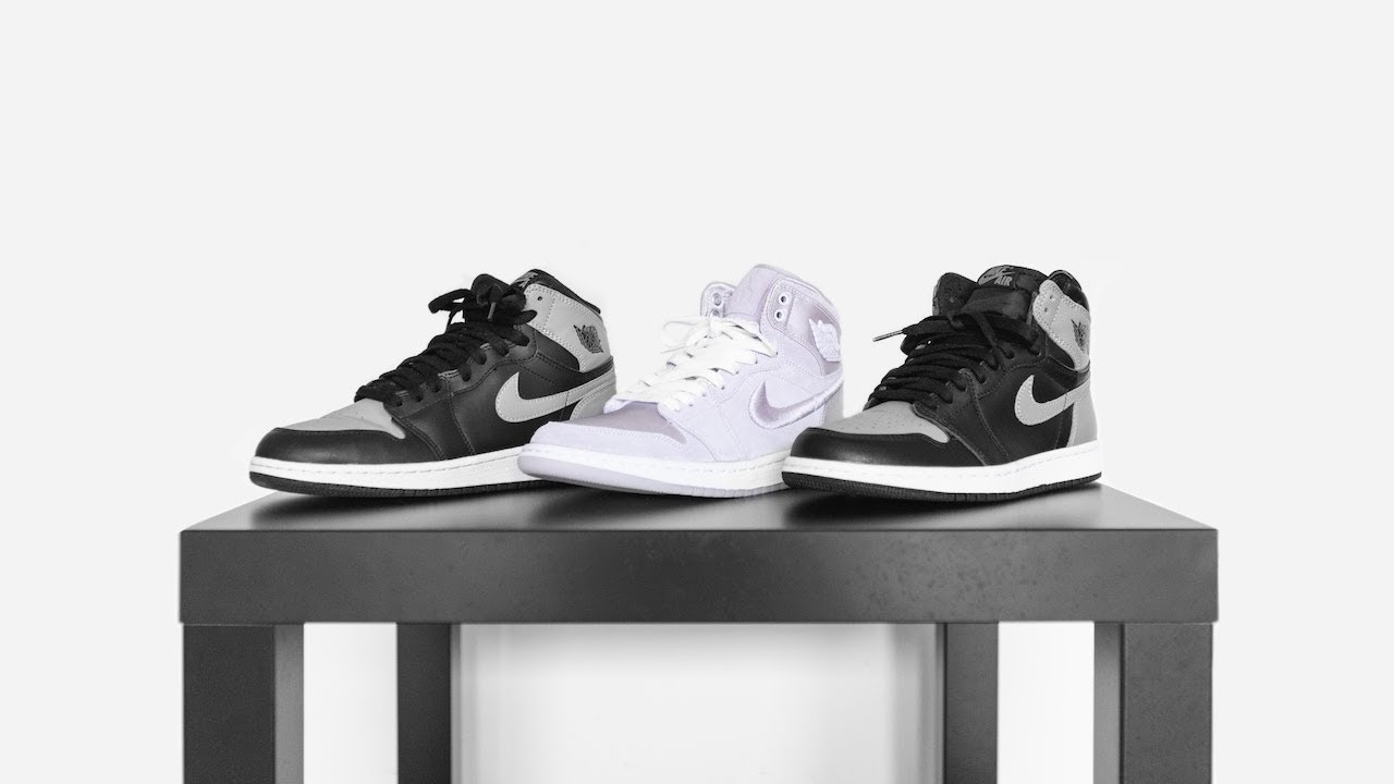 buy popular 6aa29 f5fcf WHAT'S THE DIFFERENCE? AIR JORDAN 1 MEN'S/WOMEN'S VS GS || SHADOW  GREY/SEASON OF HER