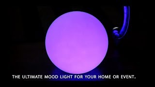 Cordless Colour Changing Ball Table Lamp by PK Green