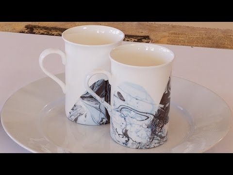 How to Marble Embellish Glasses and Cups