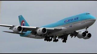 Korean Air Boeing 747-8 Landing at Heathrow Airport