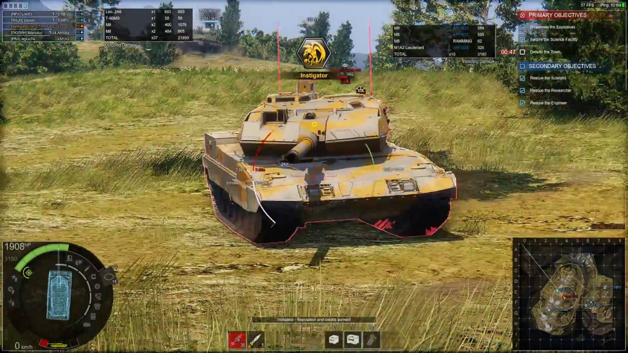 Armored Warfare - [Tier 10] Leopard 2A7-140 on Zero Hour (PvE Hard), Update  0 17