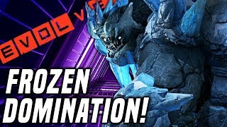 FROZEN DOMINATION!! Evolve Gameplay Stage Two (PC Monster Gameplay)