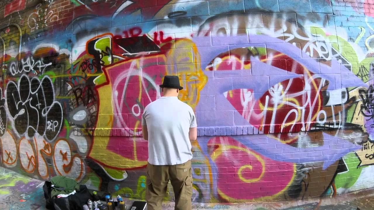 Graffiti wall baltimore - Toven Street Art In Graffiti Alley Baltimore Maryland