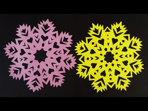 Paper Cutting Snowflakes | Cutting Snowflake For Christmas Decorations | DIY X-mas Craft Ideas