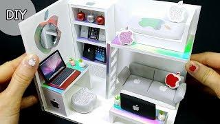 [DIY Mniature Apple Room -  Apple bed , Apple display stand~] 아이폰은 없지만 애플방은 있다!!! 애플 방 만들기 | 희꽁