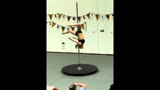 Inter-University Pole Dance Competition in Essex (IUPC) 2014-Kate Harrison Advanced Entry