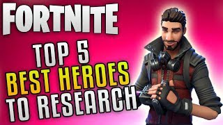 "Fortnite Save The World Update 4.5 ""Fortnite Collection Book Research"" Fortnite Best Heroes"