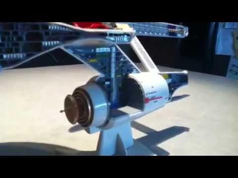 uss enterprise ncc 1701 cutaway model youtube