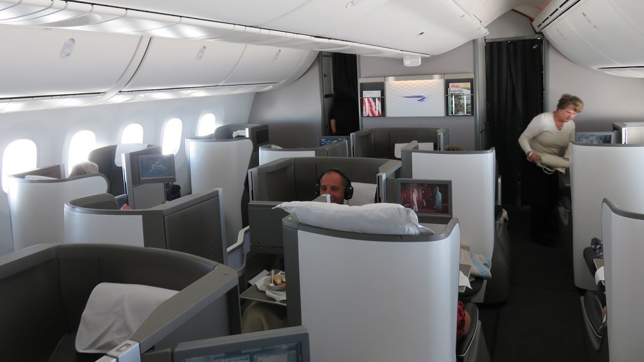 British Airways B787-8 Dreamliner business class Calgary ...
