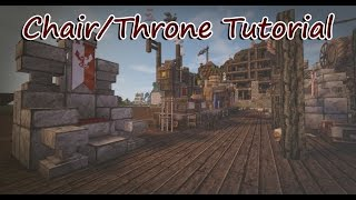 Minecraft Tutorial: Chair and Throne Designs