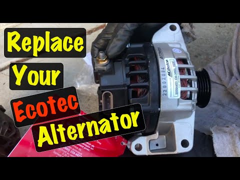 2003 04 05 2.2 Ecotec Alternator Replacement Chevy Cavalier & Pontiac Sunfire (Red Battery Light On)