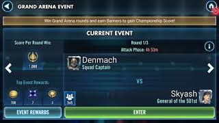 Rebels easily destroy 5 General Skywalker SWGOH Grand Arena