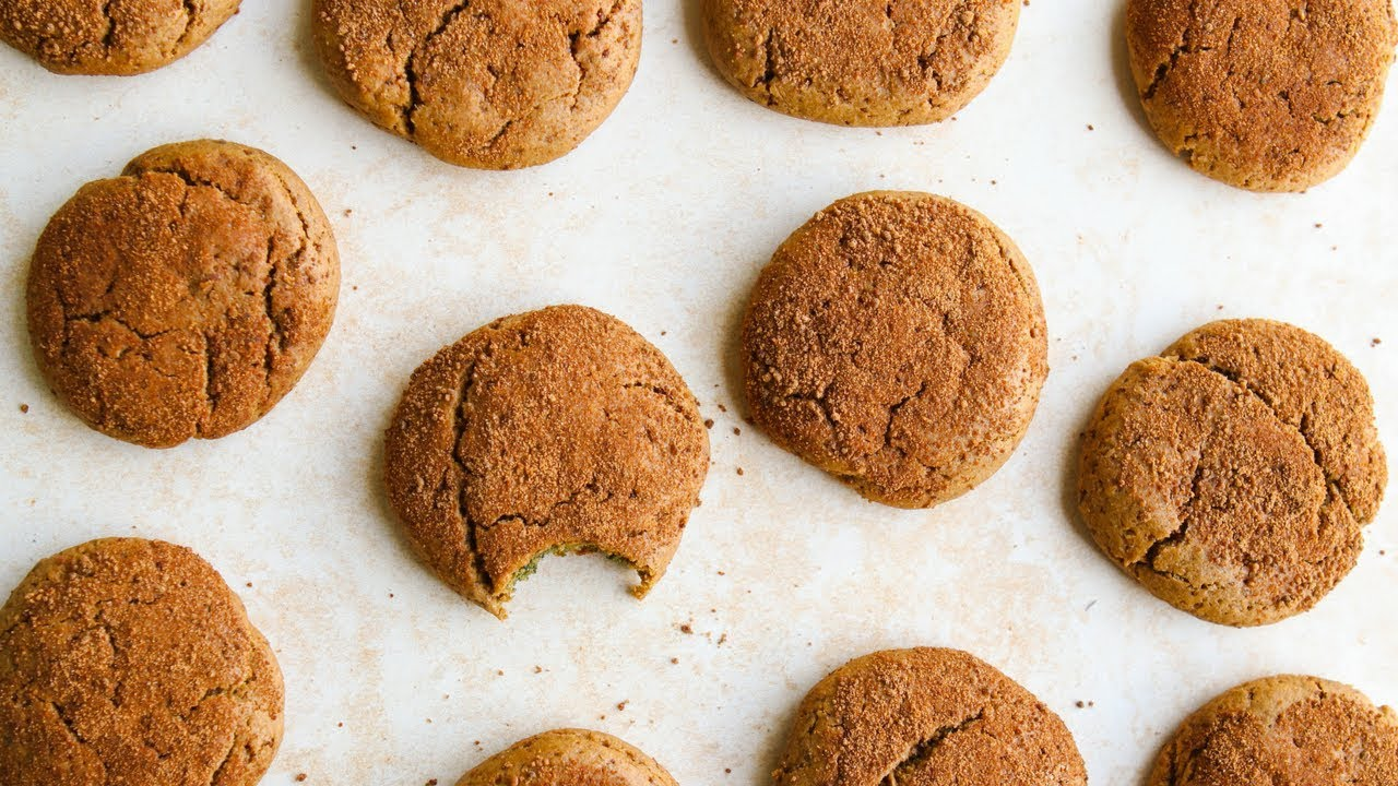 Vegan Cashew Butter Snickerdoodles   LIVE Holiday Cookie Party!