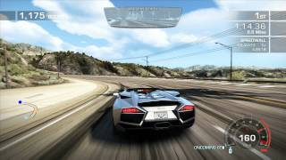 Need For Speed Hot Pursuit Lamborghini Reventón out running the law