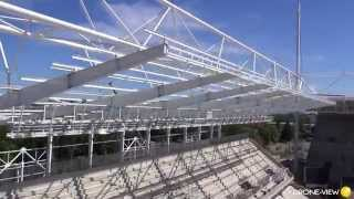 Vidéo Drone du chantier du Stade Bollaert à Lens