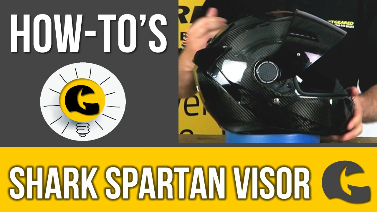 How To Change The Shark Spartan Motorcycle Helmet Visor Howto