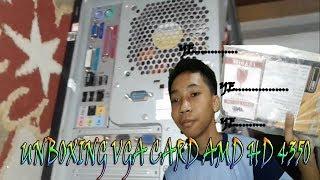 Unboxing & cara pemasangan VGA CARD ATI RADEON HD 4350