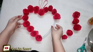 Paper rose💝 gifts DIY | Art by Heart - Komal Sommanek | Valentine's day gift idea part 2