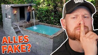 "Alles nur FAKE? 🤔 Jungle Villa Swimming Pool ""ALLEINE"" bauen - Survival Builder 